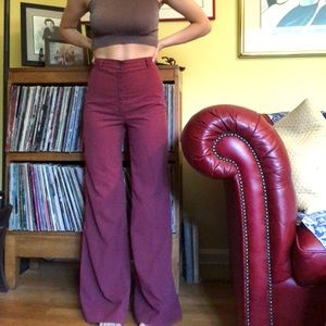 Vintage embroidered bell bottoms